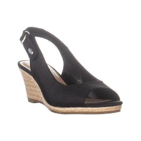 Womens CC35 Samiee Wedge Heel Espadrilles Sandals, Black