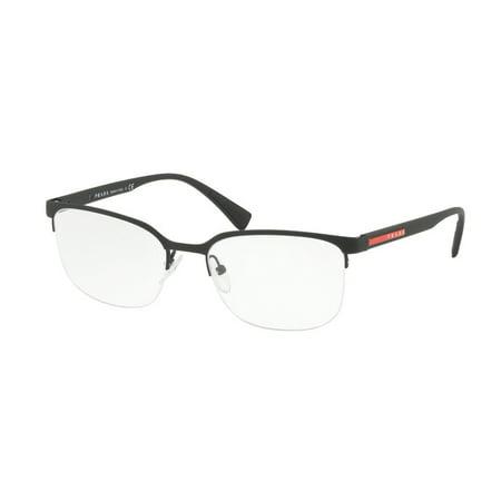 6c7c49fc6c9 Eyeglasses Prada Linea Rossa PS 51 IV DG01O1 BLACK RUBBER - Walmart.com