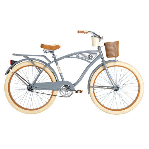Huffy 26645 26 in. Mens Flat Gray Cruiser Bicycle by Huffy