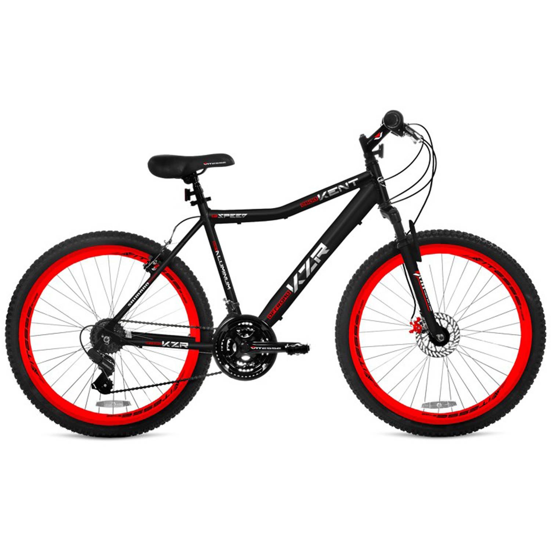 "26"" Men's Kent KZR Mountain Bike, Black/Red"