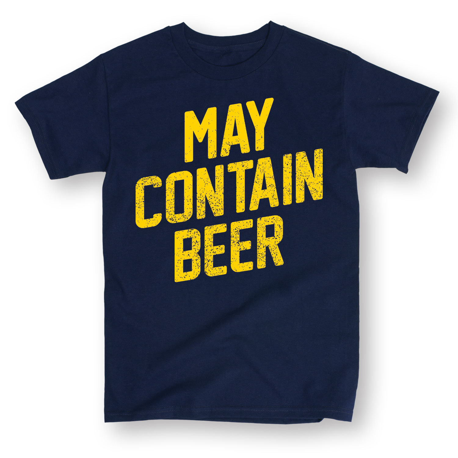 May Contain Beer-MEN ADULT SHORT SLEEVE TEE
