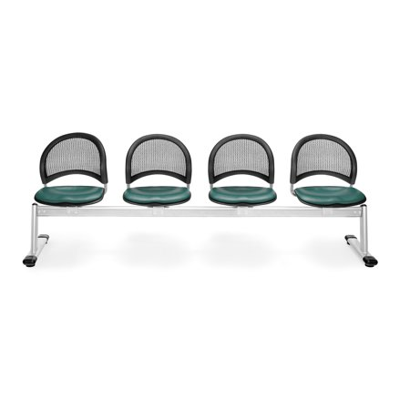 OFM Moon Series Model 334-VAM 4-Unit Beam Seating with 4 Vinyl Seats, (Moon 4 Beam Seating)