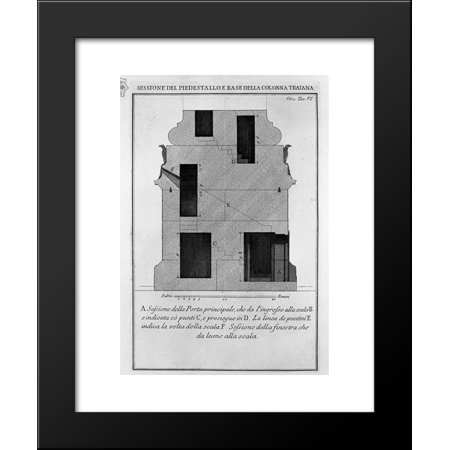 Section as above, the main door and window 20x24 Framed Art Print by Piranesi... ()