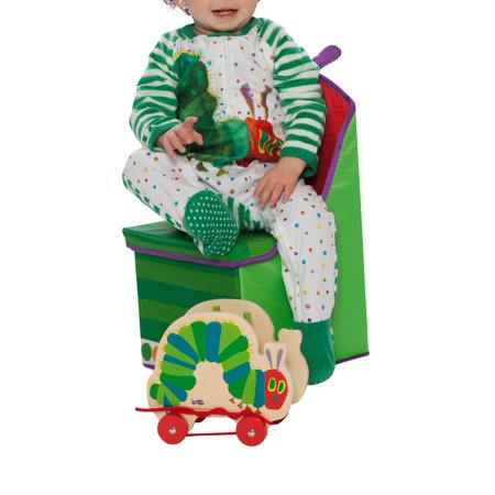 Eric Carle Baby Toddler Boy or Girl Unisex Very Hungry Caterpillar Microfleece Blanket Sleeper Pajamas