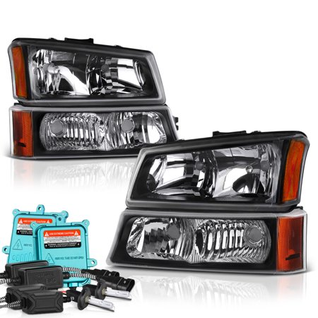 - VIPMOTOZ For 2003-2006 Chevy Silverado 1500 2500 3500 Headlights