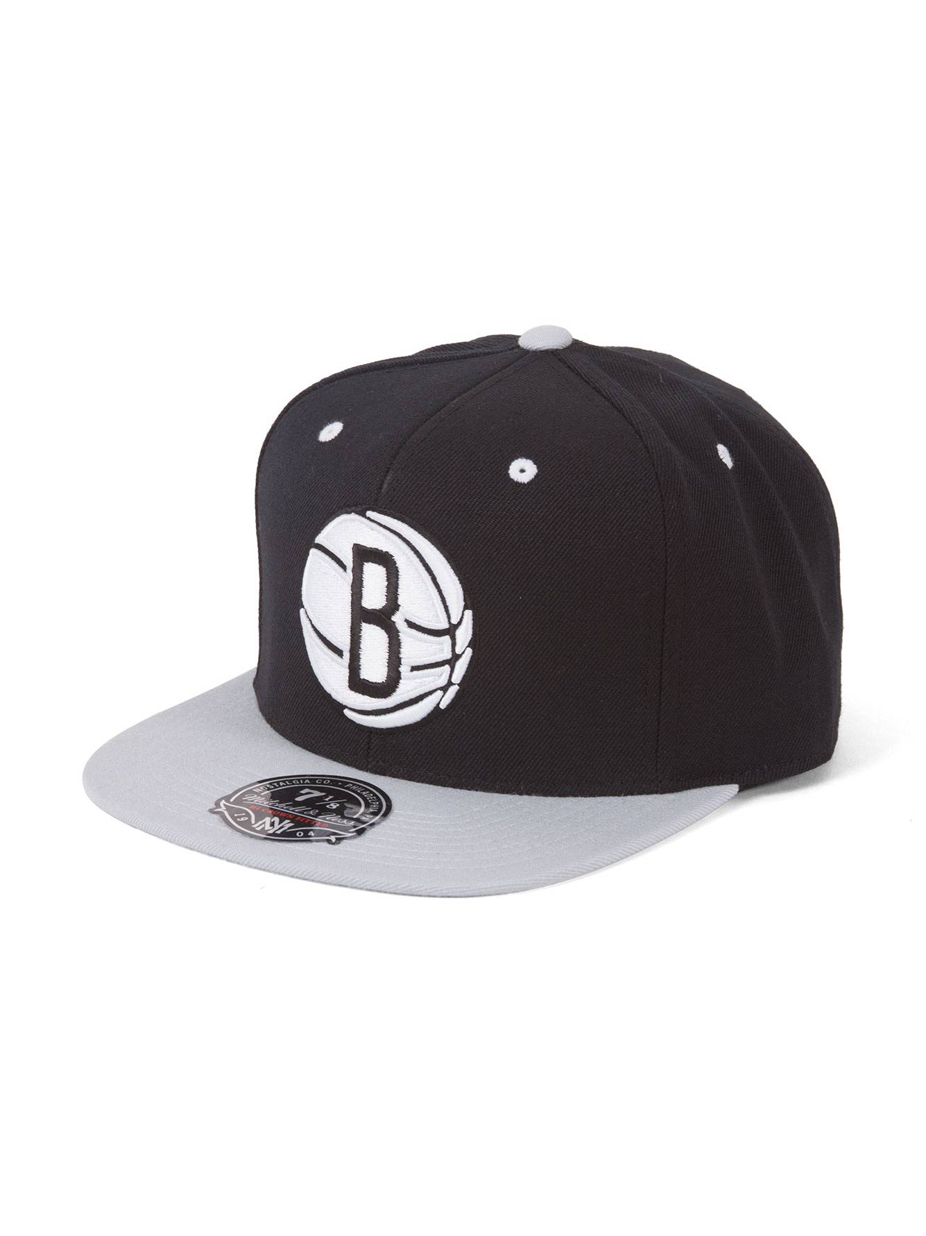 Mitchell   Ness Brooklyn Nets 2-Tone Fitted Baseball Cap - 7 1 2 219b31a15573