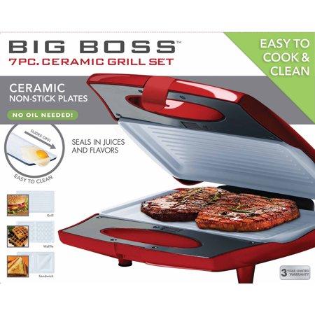 (Big Boss 7-Piece Ceramic Grill Set)