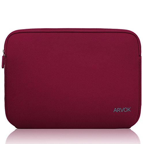 Black Arvok 15-15.6 Inch Laptop Sleeve Multi-color /& Size Choices Case//Water-resistant Neoprene Notebook Computer Pocket Tablet Briefcase Carrying Bag//Pouch Skin Cover For Acer//Asus//Dell//Lenovo