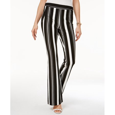 - INC International Concepts Striped Ponte-Knit Bootcut Pants Infinity Stripe 16