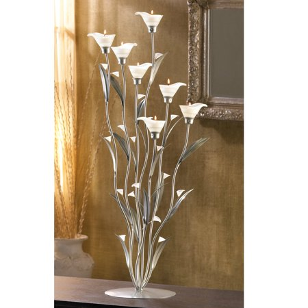 - Silver Calla Lily Candle Holder