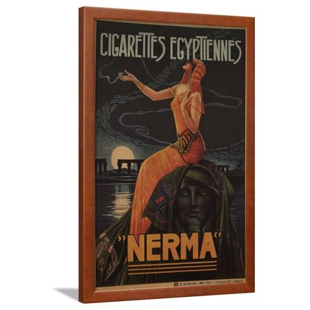 - Egyptian Cigarettes Nerma, 1924 Framed Print Wall Art By Gaspar Camps