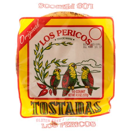 Bulk Wholesale (New 303755  Los Pericos Tostadas Shells 4.5 Oz (15-Pack) Beans Cheap Wholesale Discount Bulk Food Beans Fix Patch)