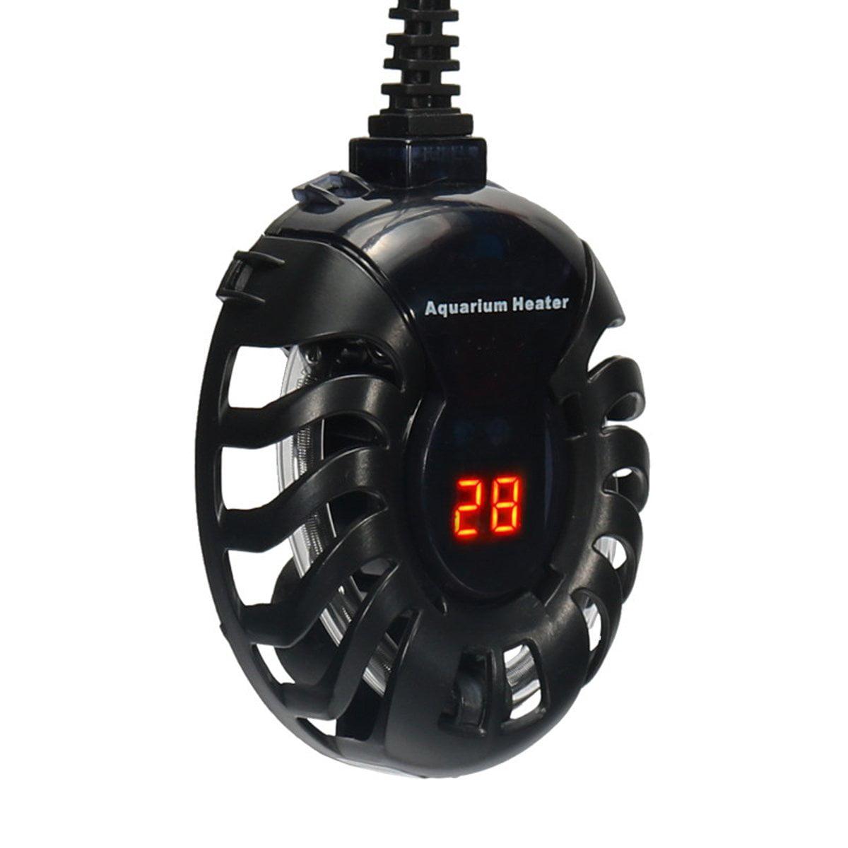 Submersible Heater 20-100W Aquarium Heater Digital Temperature Controller for Aquarium Glass Fish Tank Turtle Tank 5/10/25 Gallon