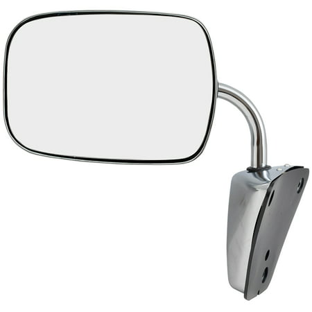 Pickup Chrome Manual Mirror - BROCK Manual Side View Stainless Steel Low Mount Mirror Replacement for GMC Chevrolet Pickup Truck SUV Van 996220