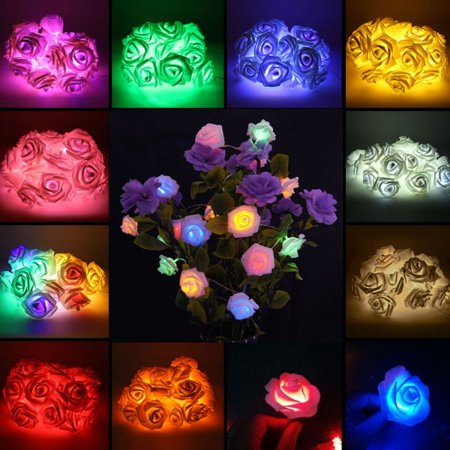 20 Pcs LED Light Flower String Light Fairy Wedding Party Home Decor