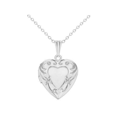Memories Love Heart Photo Locket Pendant Necklace Girls Kids 16