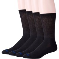 MediPeds Men's COOLMAX® Extra Wide Cushion Sole Crew, 4-Pack