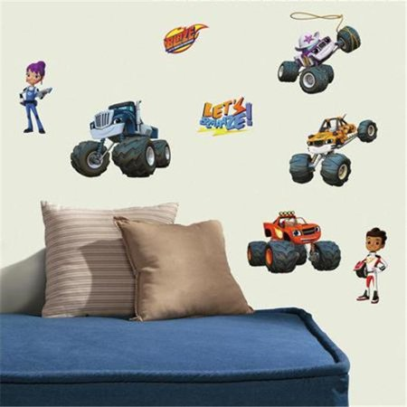 Blaze & the Monster Machines Peel With Stick Wall (Chevy Blazer Decals)