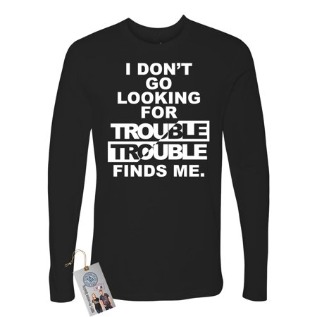 Harry Potter Trouble Finds Me Movie Saying Mens Long Sleeve Shirt
