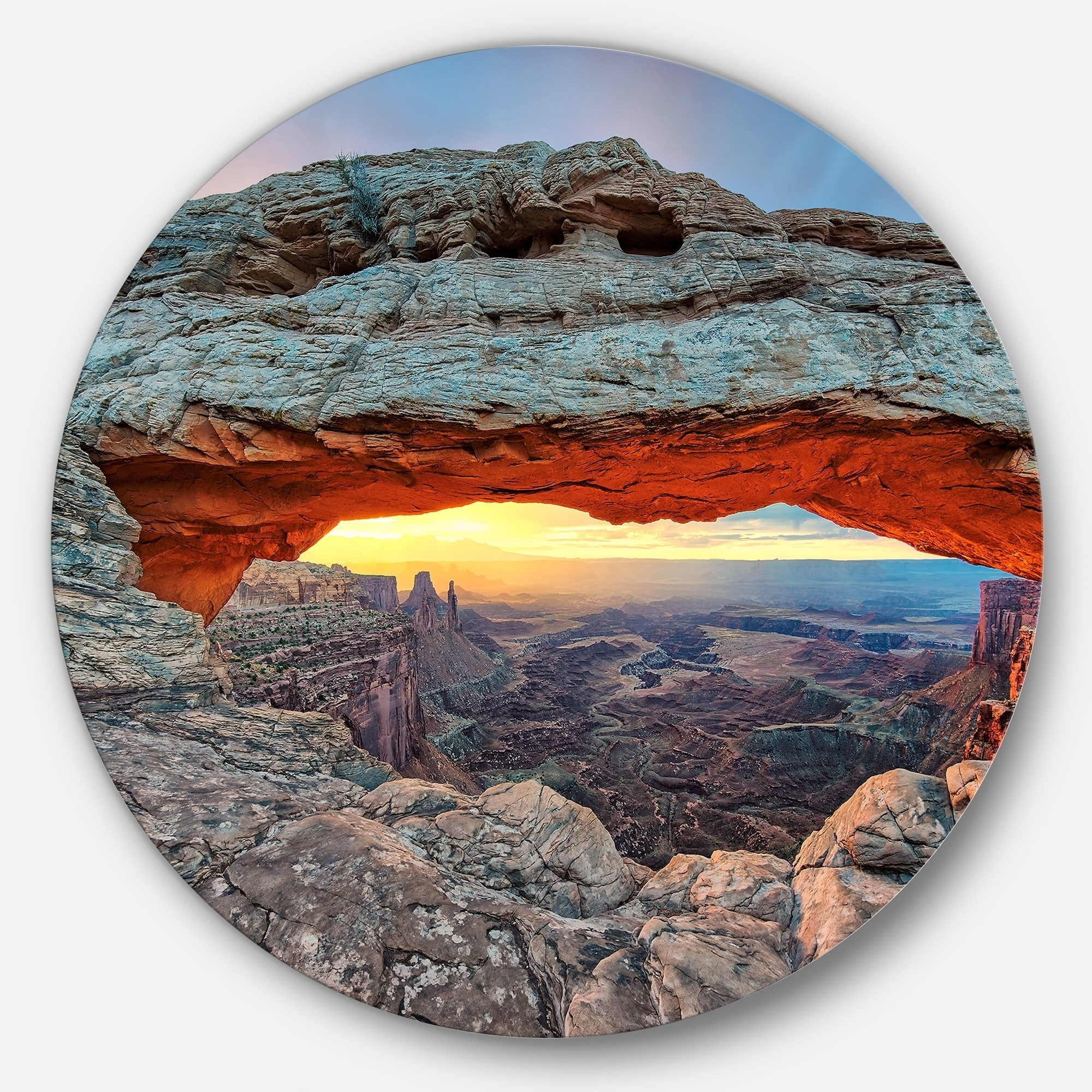 DESIGN ART Designart 'Sunrise at Mesa Arch in Canyon lands ...