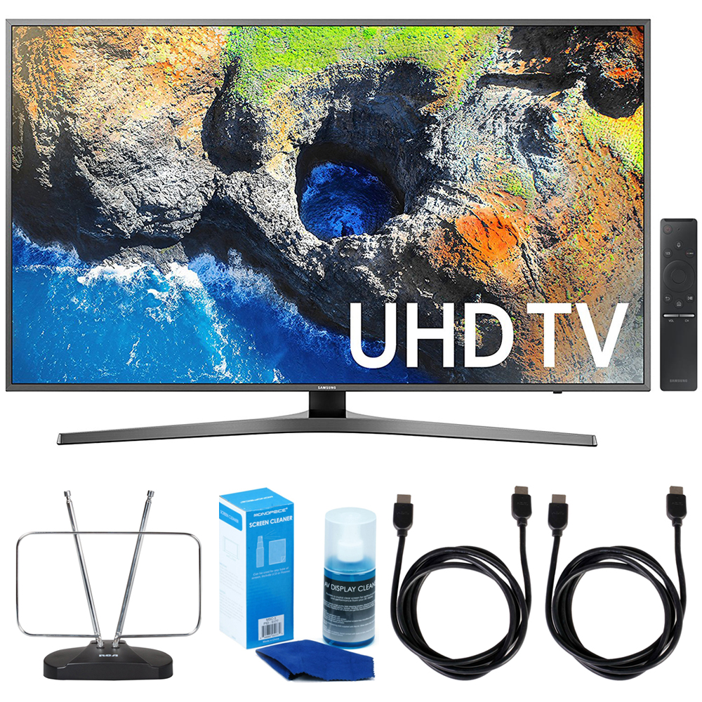 "Samsung UN55MU7000 54.6"" 4K Ultra HD Smart LED TV 2017 Model TV Bundle"