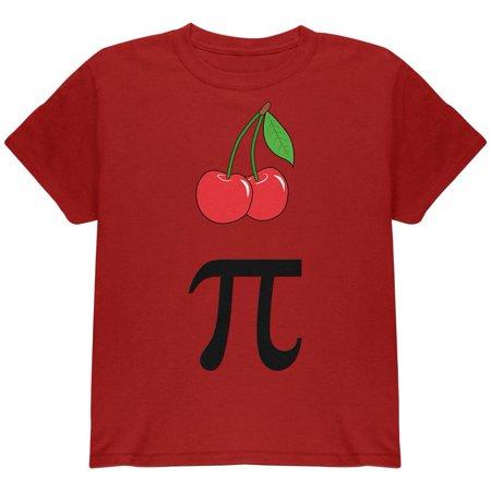 Halloween Math Pi Costume Cherry Day Youth T Shirt (Halloween Maths Sheets)