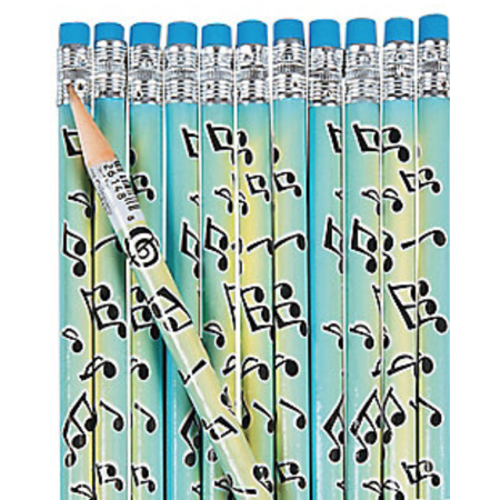 Music Note Pencils, 48 Count