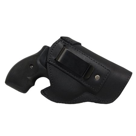 Barsony Right Hand Draw Black Leather Inside the Waistband Gun Holster Size  3 Charter Arms Colt Ruger S&W Taurus small/medium  22  38  44  357