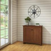 Bush Furniture Buena Vista Low Storage Cabinet with Doors in Madison Cherry