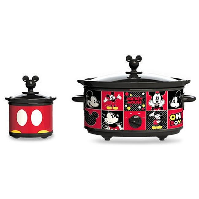 Classic Mickey DCM-502 20 oz Mickey Mouse Slow Cooker with Dipper