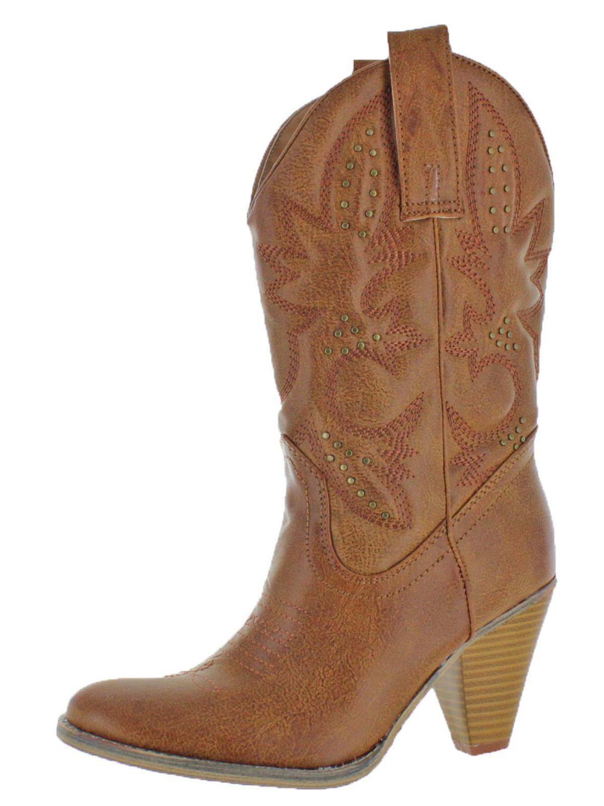 Volatile Womens Nightbloom Western Block Heel Cowboy, Western Boots