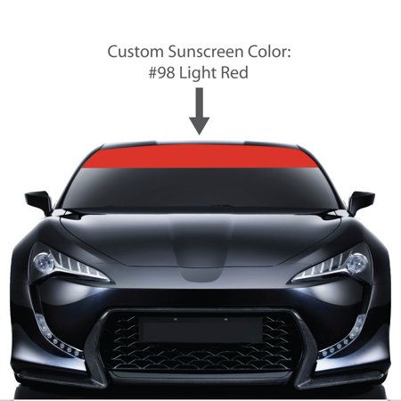 Outdoor rated professional vehicle vinyl • may be applied to the inside or outside of any vehicles windshield