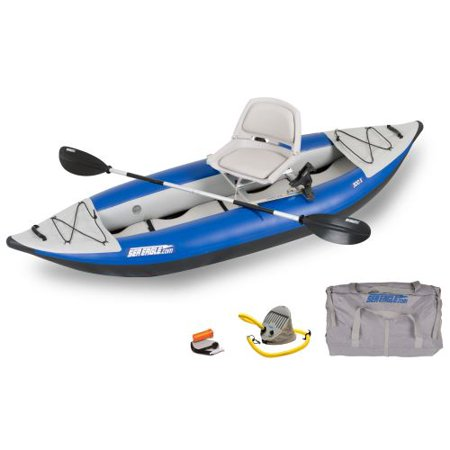 Sea eagle 300x explorer inflatable kayak swivel seat for Fishing kayak walmart