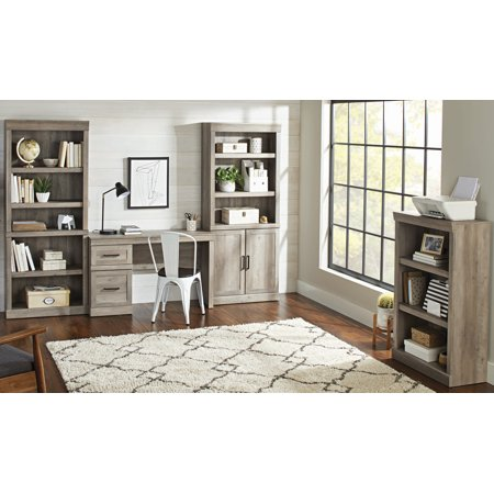 Better Homes & Gardens Glendale 5 Shelf Bookcase, Rustic Gray Finish