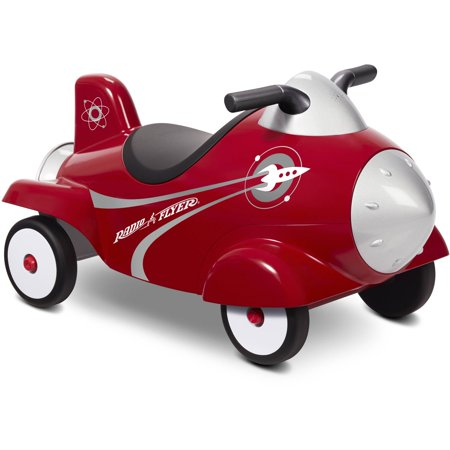 Radio Flyer Pedal Car (Radio Flyer, Retro Rocket With Lights & Sounds, Ride-On )
