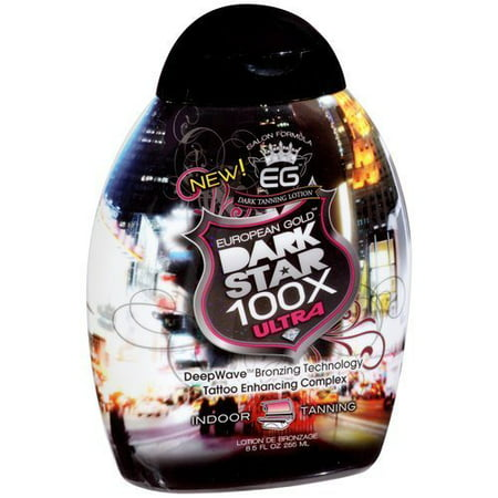 Dark Star 100x Ultra Indoor Tanning Lotion, 8.5 fl oz, European Gold Dark Star 100x Ultra Indoor Tanning Lotion By European