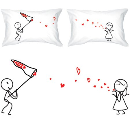 Boldloft Catch My Love His Hers Couple Pillowcases Matching Couple