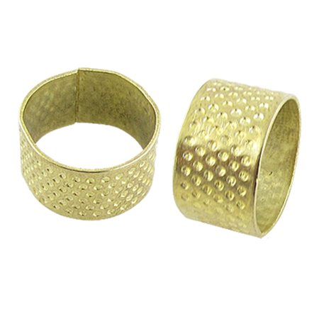 Thimble Kit (Unique Bargains Gold Tone Protective Thimble Sewing Kit for Tailors)