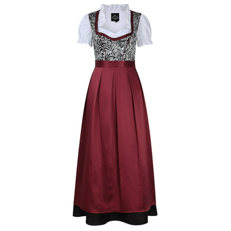Women's German Traditional Oktoberfest Costumes Classic Dress Three Pieces Suit ()