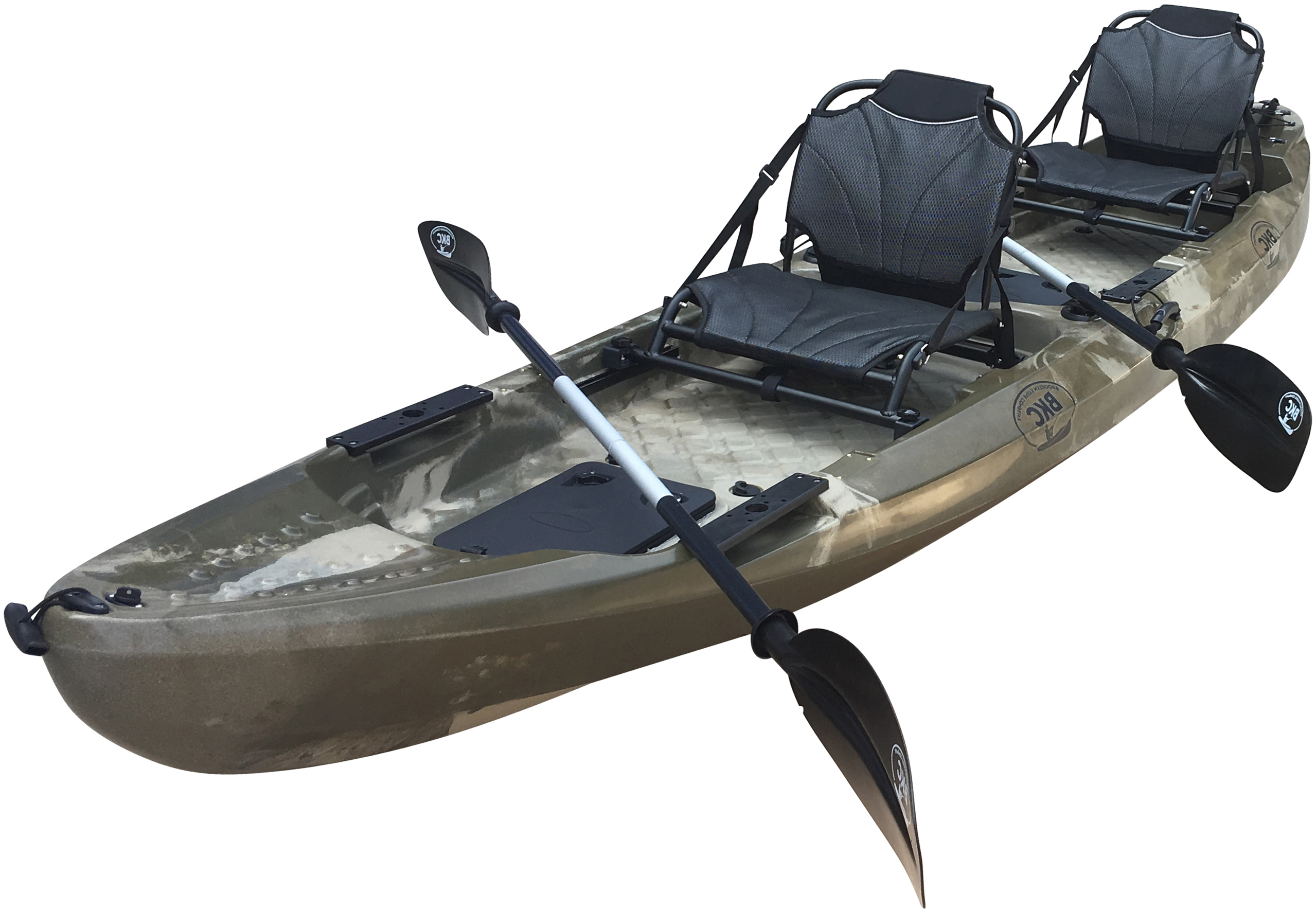 Click here to buy BKC UH-TK29 13-Foot 1-inch Tandem 2 Person Sit On Top Fishing Kayak with 2 Up-Right Seats and 2 Paddles Included by Brooklyn Kayak Company.