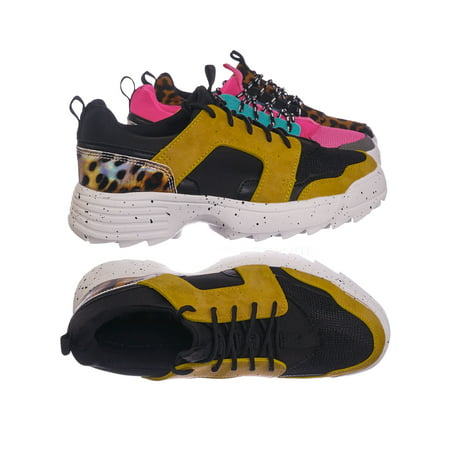Above20 by Bamboo, Lightweight Chunky Sneaker -Lace Up EVA Color Block Fashion Athletic