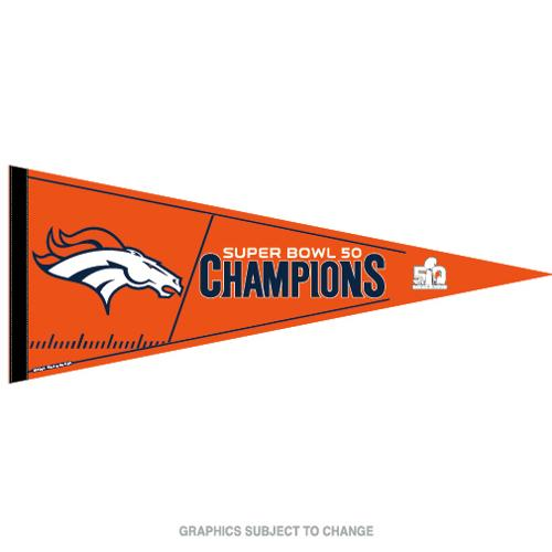 Denver Broncos Official NFL 30 inch  Super Bowl 50 Champions Pennant by Wincraft