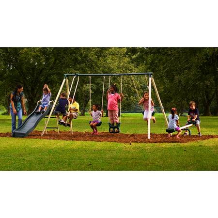 Flexible Flyer Backyard Swingin' Fun Metal Swing Set ...