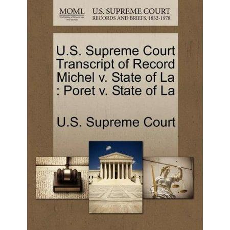 U.S. Supreme Court Transcript of Record Michel V. State of La - image 1 of 1