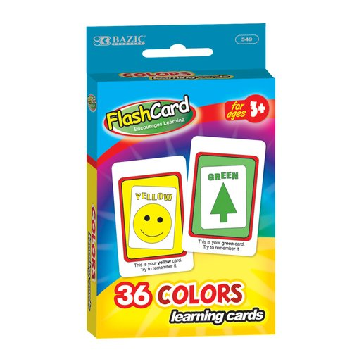 Bazic Colors Preschool Flash Cards by Generic