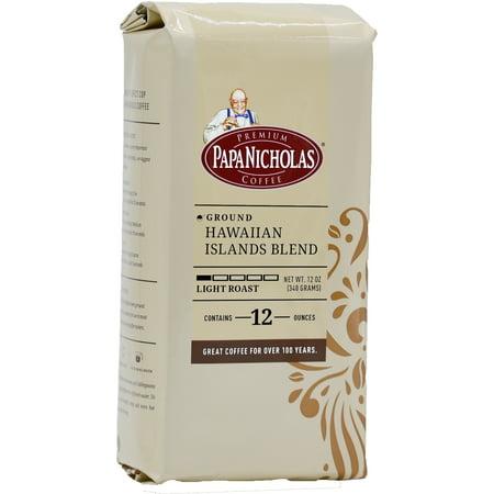 PapaNicholas Coffee Hawaiian Island Blend Whole Bean 12oz Bag