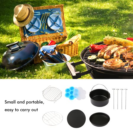 6pcs Bbq Grill Accessories Fryer Tools Set Stainless Steel Grilling Tools Professional Grill Mats For Outdoor Cooking Camping Backyard Barbecue Cake Baking Pan Silicone Molding Multi Functional Portab Walmart Canada