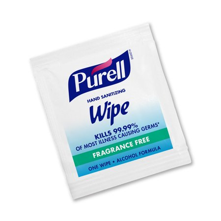 (Pack of 300) - PURELL Hand Sanitizing Wipes, Alcohol Formula, Fragrance Free, Individually Wrapped Hand Wipes -9020-06-EC