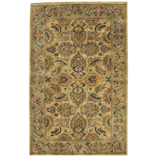 Piedmont Isfahan Hand-Tufted Area Rug, Amber