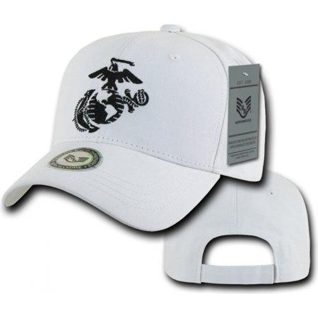 RapDom Marines Logo Back To The Basics Mens Cap [White - - Marines Logo Cap